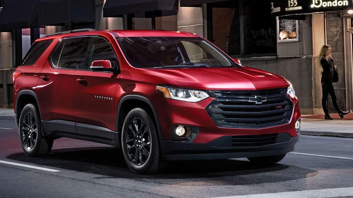 chevy traverse deep red
