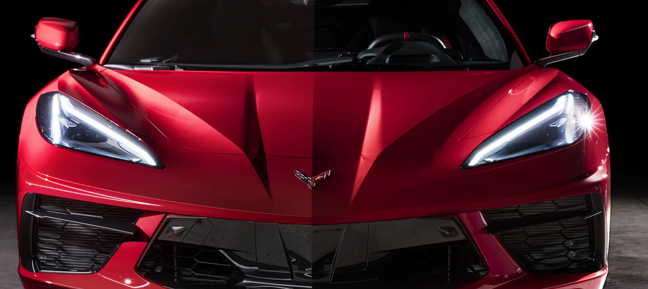 2020 Corvette Stingray Mid-Engine Marvel Aggressive Front Face